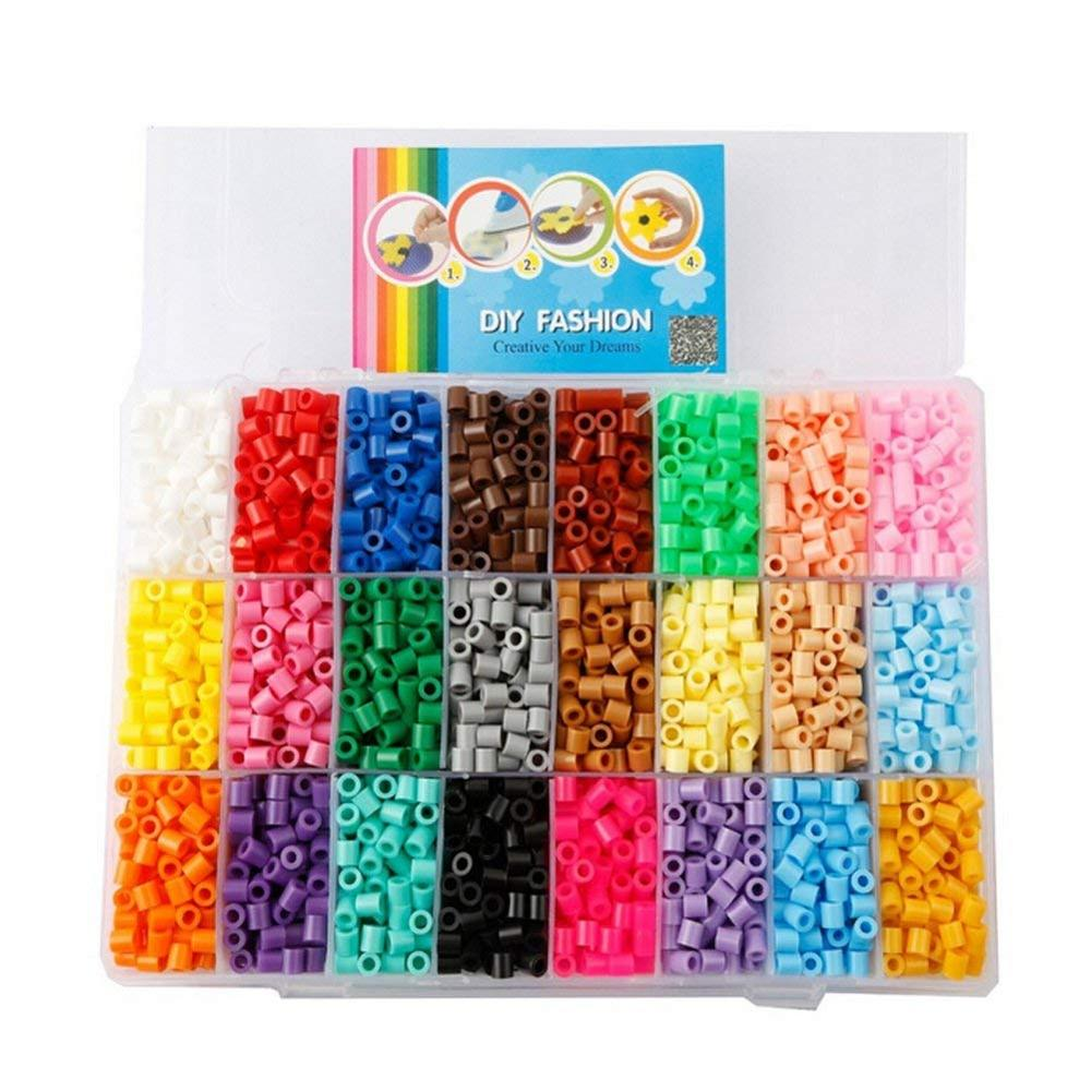 24 Colors Tray Fuse Beads Educational Kids <strong>Toys</strong>