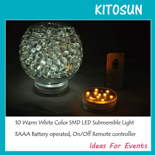 2.8 inch Warm White LED Submersible remote controlled Light Base for Paper Lantern