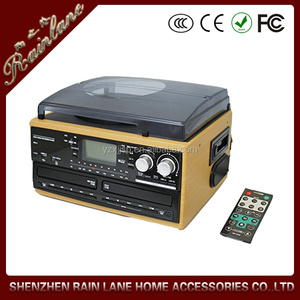 Modern phonograph,Stereo casstte tape player function with fast-forward function