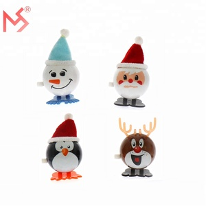 Novelty Santa Claus Elk plastic wind up toys kids for wholesale