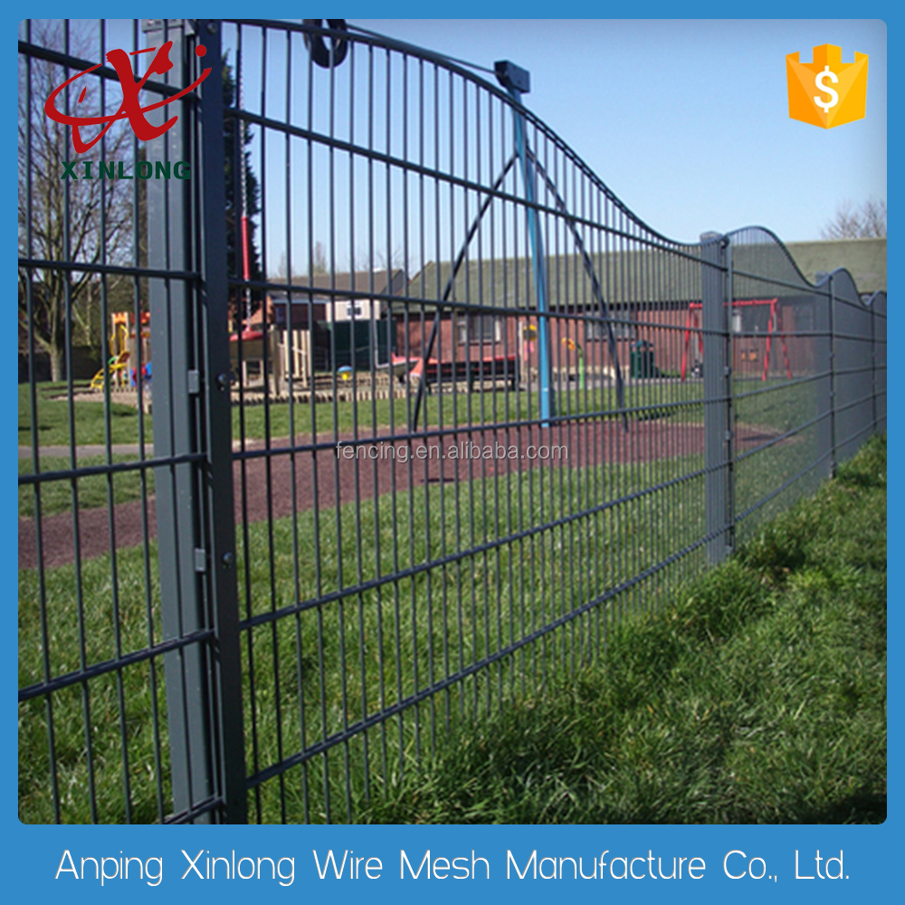 Double wire fence round shape top welded mesh fence for country border