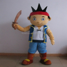 Hola jake neverland pirate costume de mascotte à vendre