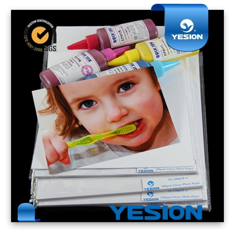 2015 Best seller!Wholesale with cheap price glossy inkjet photo paper 3r photo size