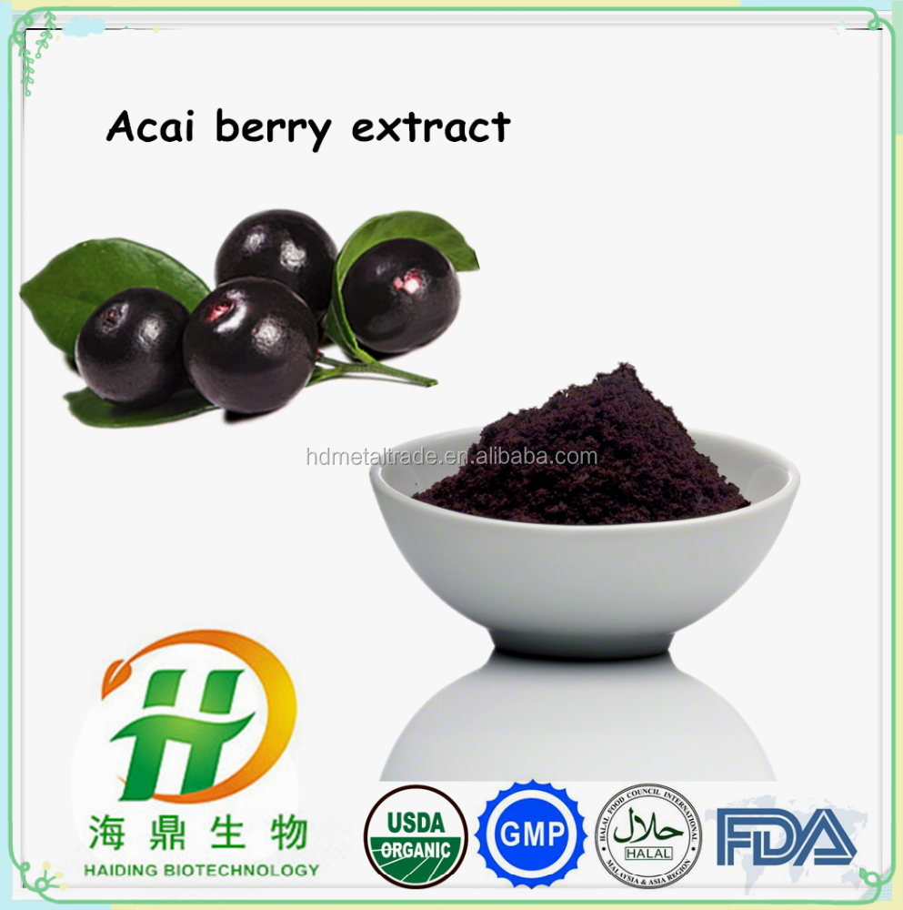 Wholesale Price Bulk Pure Acai Berry Extract , Skin Whitening Acai Berry Powder