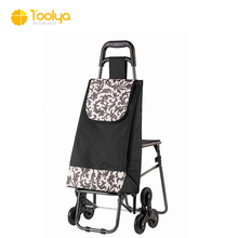 Manufacture Wholesale High quality supermarket equipment Climbing Stair Foldable shopping trolley bag