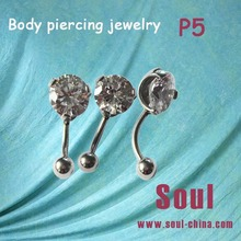 2014 new flashing fake ear expanders body piercing jewelry