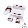 Ring paper jewelry Innovative book white boxes satin ribbon packing
