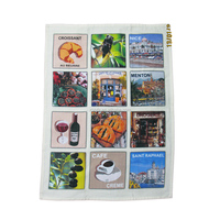 kitchen towel 100% cotton Digital Printed Tea Towel High Quality souvenir items