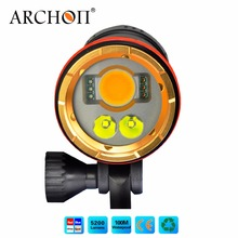ARCHON WM26 100 meters waterproof Professional diving video flashlight