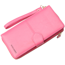 Unisex Wallet for Men Women Ladies Purse PU Leather Korea Card Phone Wallet Long Fashion 7 Colors