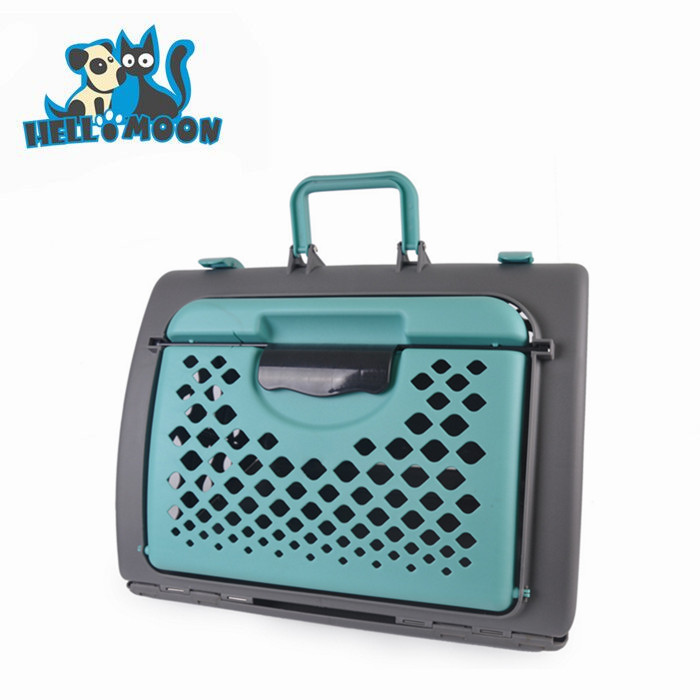 Soft Portable Plastic General Cage Slant Front Collapsible Dog Crate