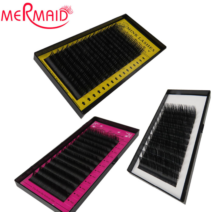 good quality individual eyelash extension, 10 different thickness