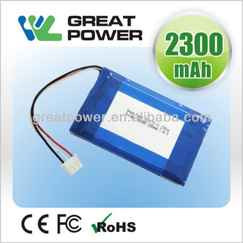 Factory directly selling IEC UN standard lithium polymer batteries for sale