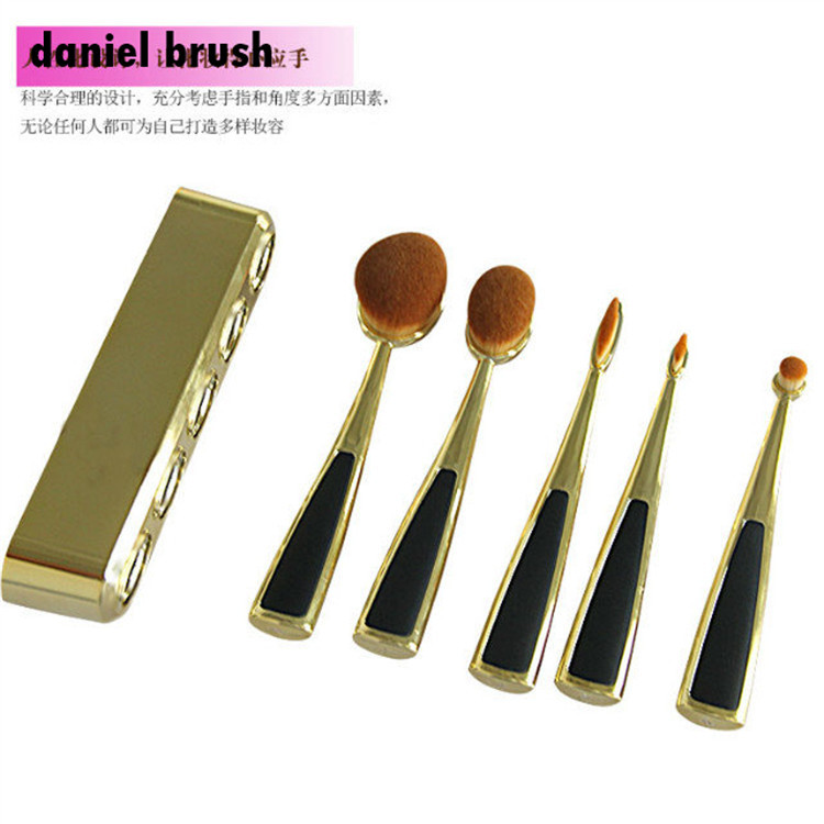 Oval Makeup Brushes Set For Make Up Cosmetics Beauty Essentials Toothbrush Artists Shadows Powder Foundation Blush Brush Kit