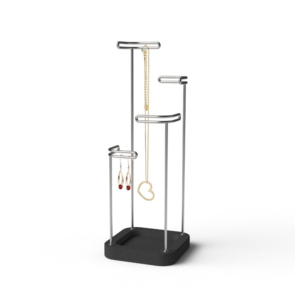 Large Gold And Marble Jewellery Stand