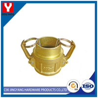 easy using brass grooved pipe fitting