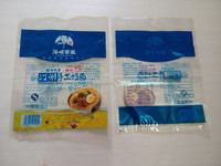 Clear Plastic Food Grade Printed PP Flat Packaging Bag For Noodles
