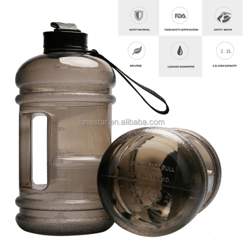 Matte black plastic sports bottle for big storage water