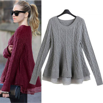 C72713A New design handmade ladies sweater ladies stylish sweaters