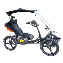 No Tariff Free Sea Shipping High Seat Air Spring Suspension Electric Adult Recumbent Quad <strong>Cycle</strong> with Fairing