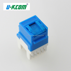 High quality best sale module cat5e 180 degree utp keystone jack