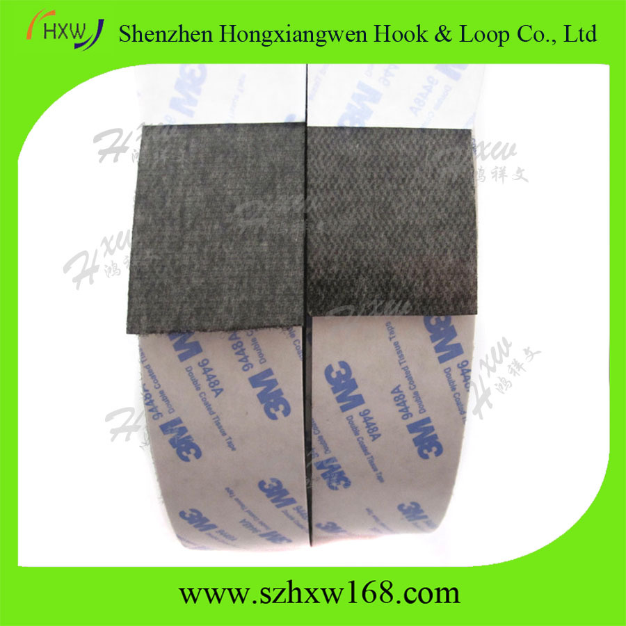 Self Adhesive Black Hook and Loop Sticky Back Tape Fabric Fastener