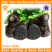 JML High qulity shoesfor lovely dog XXB1410 coffee winter use dog shoes