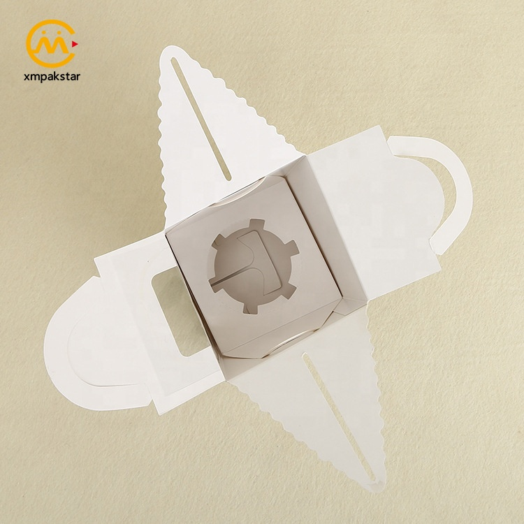 Wholesale eco friendly customized size bakery packaging paper muffin box