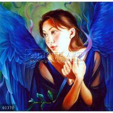 100% Handmade oil paintings of angels wings oils on canvas
