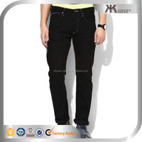 Black Solid Low Rise Regular Fit Jeans Mens Blank Denim Jeans