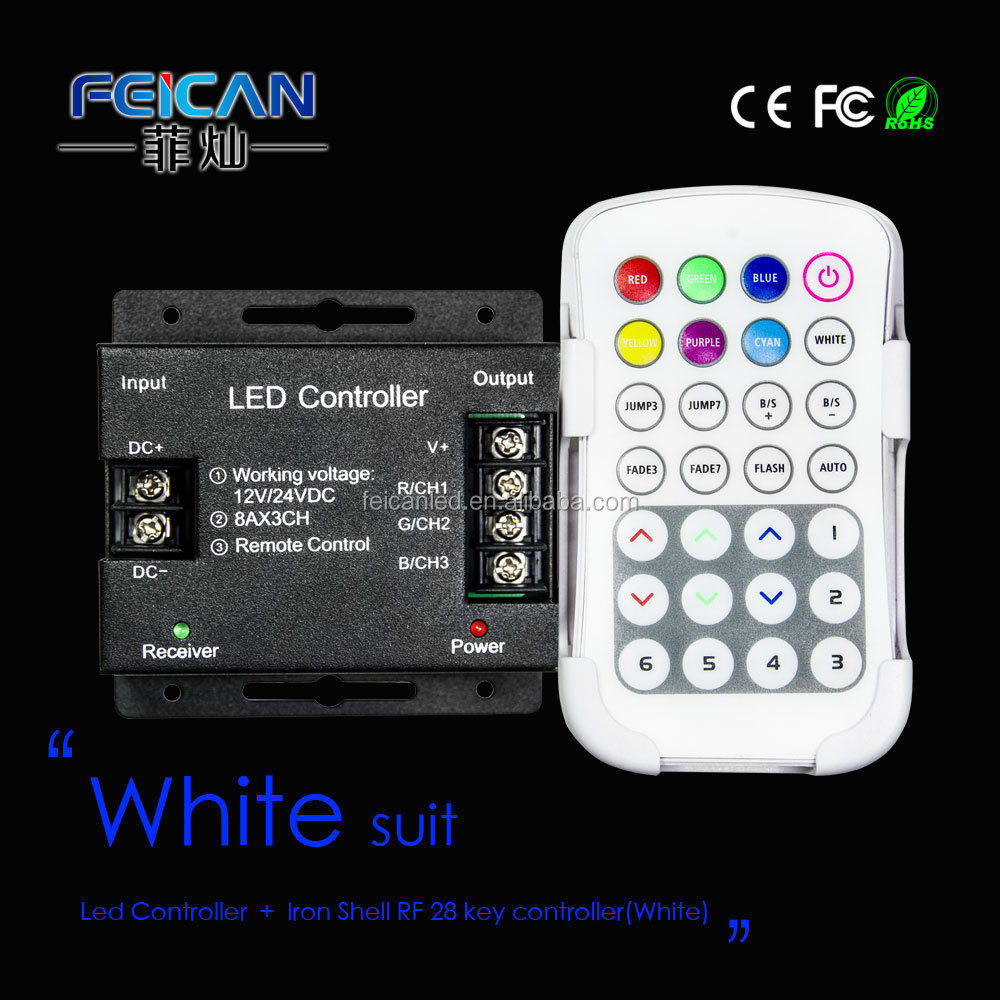 DC12-24V Wireless RF RGB Controller Dimmer lighting control Touch Panel Remote for LED Strip