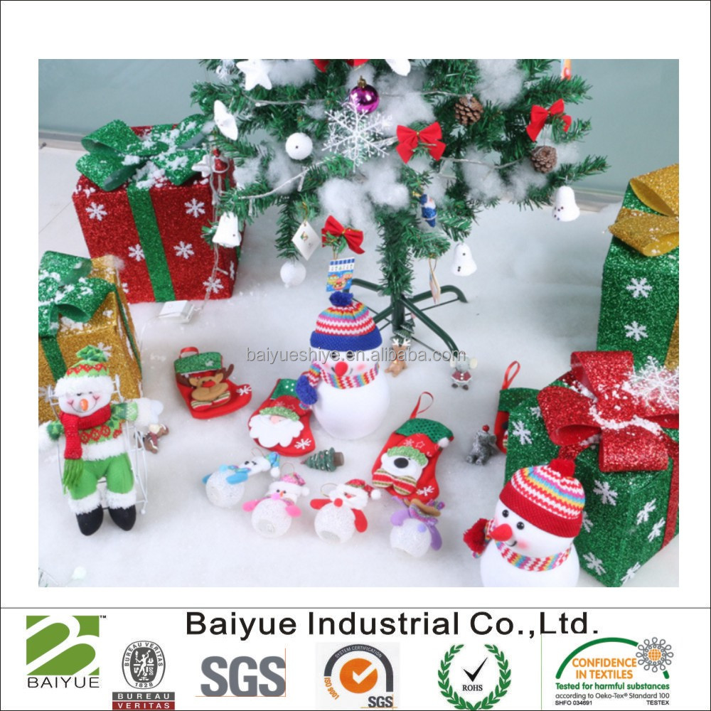 Christmas decoration 100% polyester snow blankets/carpets