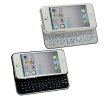 Ultra Thin Slide out Wireless Bluetooth Keyboard Case Cover for Apple Iphone 5