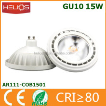 Aluminum plastic 110mm ar111 15 watt gu10 led lamp