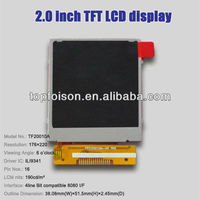 2.0inch TFT LCD 4 lines display with QCIF resolution TF20010A