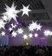 Hanging ball party decoration with led lighting inflatable star
