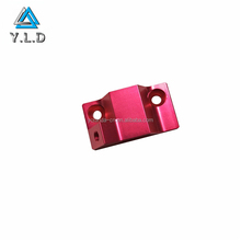 OEM ODM Custom Red Anodized Aluminum Profiles Extrusion CNC Machining Parts For Laser Lamp