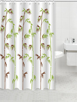 folding fabric shower curtain with stripe hookless easy to clean
