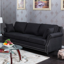 Modern Classic Fabric Extra Long Sofa set