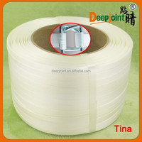 Polyester fiber packing tape for pallet bundling with 13mm,16mm,19mm,25mm,32mm