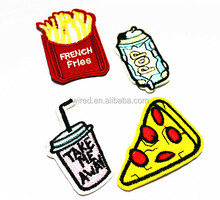 Different Patch Set Cute Food Embroidered Patches Cheap Cartoon Iron Patch For Kids Clothes