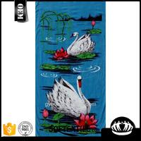 White Swan Printed Cotton Beach Towel