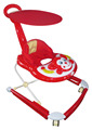 Hot sale baby walker new models with push bar and canopy Steel bottom tray new baby musical walker with music and light