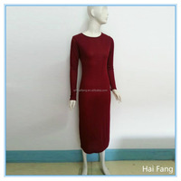 Summer Women Long Sleeve Red Dress, Fashion Lady Dress,Fat and Thin Women Casual Style Dress