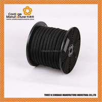 Black Nylon Double Braided Rope