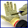2017 Yhao Brand PVC Dotted Cheap Safety Work Anti Cut Gloves Cotton Knitted White Gloves Aramid Fiber String Knit glove