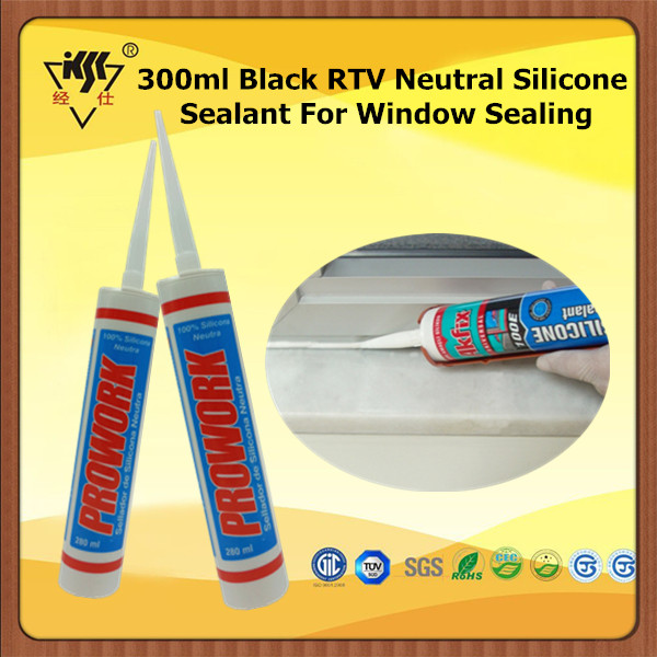 300ml Black RTV Neutral Silicone Sealant For Window Sealing