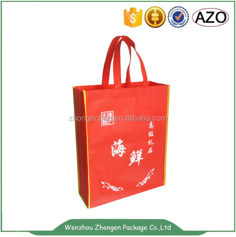 Non woven promotional gift bag ,seafood packing bag