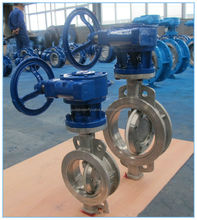 Stainless Steel 304 Wafer Type Butterfly Valve with PTFE seat