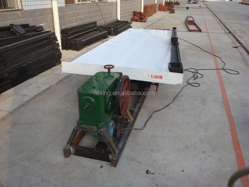 Gold mine equipment shaking table separating gold ore